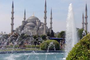 Moskee met fonteinen
